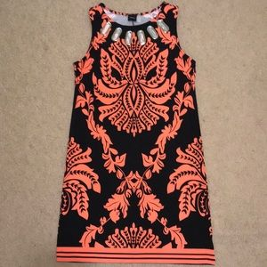 Haani Coral and Black Dress